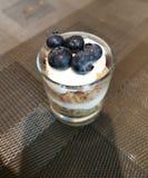 Yogurt di mirtillo fotografia stock libera da diritti