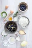 Yogurt di ricetta del pancake Immagine Stock