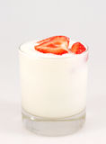 Yogurt di Stawberry Fotografie Stock
