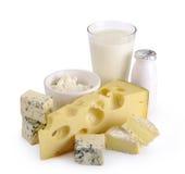 Yogurt do queijo do leite imagem de stock