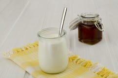Yogurt e miele Fotografia Stock Libera da Diritti