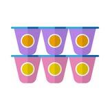 Yogurt flat icon Royalty Free Stock Photo