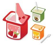 Yogurt fresco Fotografia Stock Libera da Diritti