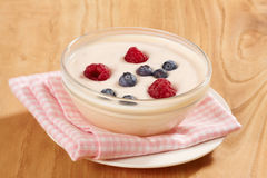 Yogurt with fresh berries Stock Image