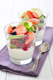 Yogurt and fresh berries Royalty Free Stock Images