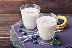 Yogurt with  fresh blueberry Royalty Free Stock Image