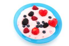 Yogurt with fruit Royalty Free Stock Photography