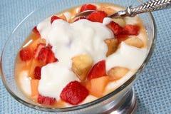 Yogurt with fruit Stock Image