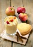 Yogurt with fruit Royalty Free Stock Images