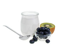 Yogurt with fruits Royalty Free Stock Photo