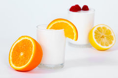 Yogurt with a fruits and berries Stock Image