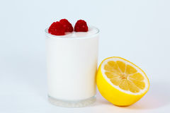 Yogurt with a fruits and berries Royalty Free Stock Image
