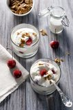Yogurt with Granola and Fruit Royalty Free Stock Images