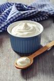 Yogurt greco Fotografia Stock Libera da Diritti