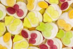 Yogurt gummy candies background. Background of fruity yogurt gummy candies Stock Photos