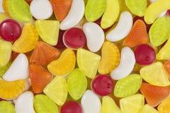 Yogurt gummy candies background. Background of fruity yogurt gummy candies Stock Photo
