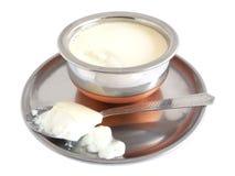 Yogurt. Home made yogurt in a bowl Stock Photography