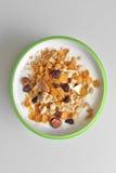 Yogurt with honey and muesli Stock Photo