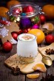 Yogurt in a jar Stock Images