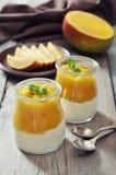 Yogurt with mango Royalty Free Stock Image