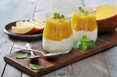 Yogurt with mango Royalty Free Stock Photo