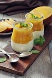 Yogurt with mango Royalty Free Stock Photos