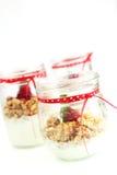 Yogurt and muesli Royalty Free Stock Image