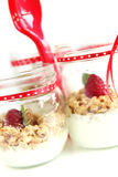 Yogurt and muesli Royalty Free Stock Photos