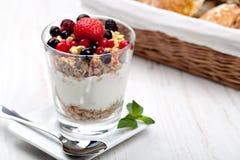Yogurt with muesli Royalty Free Stock Photos