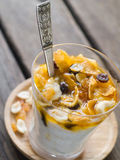 Yogurt with muesli Royalty Free Stock Image