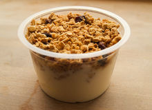 Yogurt with muesli Royalty Free Stock Images