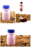 Yogurt with muesli and berries set Royalty Free Stock Image