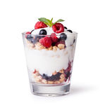 Yogurt with muesli and berries Royalty Free Stock Photography