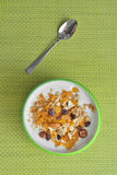 Yogurt and muesli Stock Photos