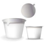 Yogurt packaging boxes Stock Image