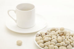 Yogurt raisins and coffee Stock Images
