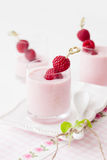 Yogurt with raspberry Royalty Free Stock Image