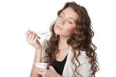 Yogurt saporito fotografie stock libere da diritti