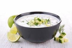 Yogurt sauce Stock Photo