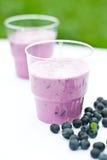Yogurt shake with blueberry Stock Photo
