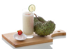 Yogurt and Soursop mix smoothies Royalty Free Stock Photo
