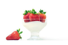 Yogurt & strawberry Royalty Free Stock Photo