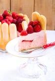 Yogurt strawberry cake Stock Images