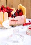 Yogurt strawberry cake Royalty Free Stock Photography