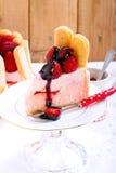 Yogurt strawberry cake Stock Photography