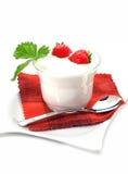 Yogurt with strawberry Royalty Free Stock Photography
