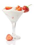Yogurt with strawberry Stock Photography