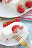 Yogurt strawberry tart c Stock Image