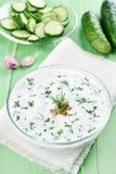 Yogurt summer soup Stock Photo