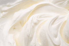 Yogurt swirl. Mass white background for package design Royalty Free Stock Photography
